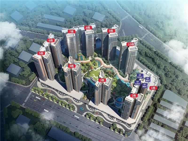 惠州鸿润腾韵花园推出97-116户型